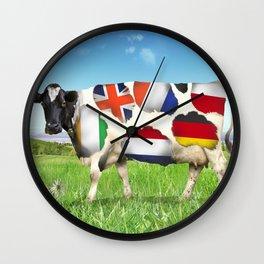 European cheeses Wall Clock