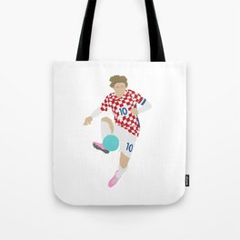 Luka Modric Croatia Print Tote Bag