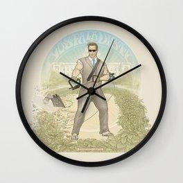 Hosta La Vista Wall Clock