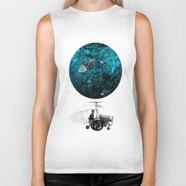 walk in space Biker Tank