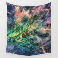 ladybug Wall Tapestries featuring ladybug by Julia Kovtunyak