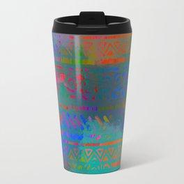Bright ethnic Boho Travel Mug