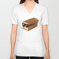 bread V-neck T-shirts featuring Cool Bread by Josh LaFayette