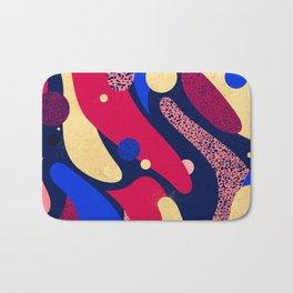 Psychedelic terrazzo galaxy blue night gold red Bath Mat