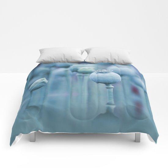 Poppy capsules blue style Comforters