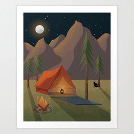 Cat Camp Art Print