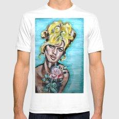 Brigitte Bardot White Mens Fitted Tee MEDIUM