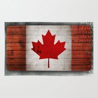 canada Area & Throw Rugs featuring Canada by Arken25