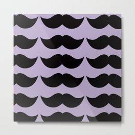 Mustache Motif Metal Print
