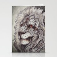caitlin hackett Stationery Cards featuring the Nemean Lion by Caitlin Hackett