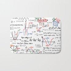 Math Cheat Sheet Bath Mat