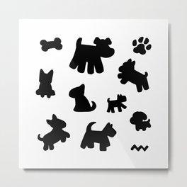 Simple Dogs Metal Print