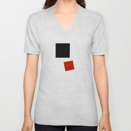 Geometric Abstract Malevic #2 Unisex V-Neck