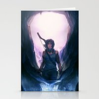 tomb raider Stationery Cards featuring Tomb Raider: Definitive Edition by Caleb Thomas