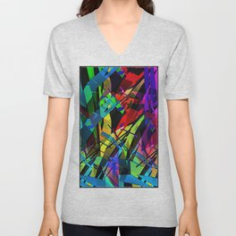 Color splinter in the abstract. Unisex V-Neck