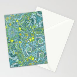 Paisley (green) Stationery Cards