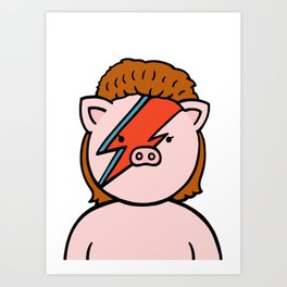 Bowie chan  Art Print