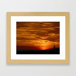 Sunset Skies Framed Art Print