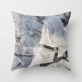 Broken Ice Throw Pillow