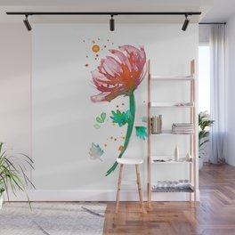 Warm Watercolour Fiordland Flower Wall Mural