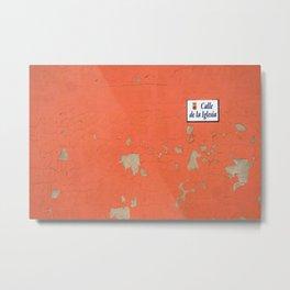 red street Metal Print