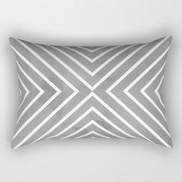 Stripes in Grey Rectangular Pillow