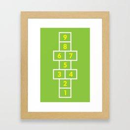 Hopscotch Green Framed Art Print