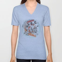 Earth's Mightiest Heroes Unisex V-Neck