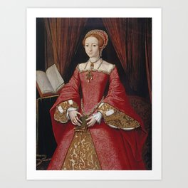 The Virgin Queen when a Princess Art Print