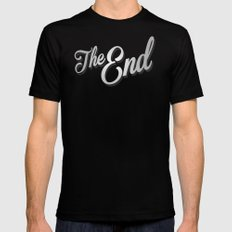 The End /poster Mens Fitted Tee Black MEDIUM