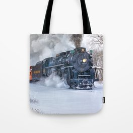 North Pole Express Train (Steam engine Pere Marquette 1225) Tote Bag