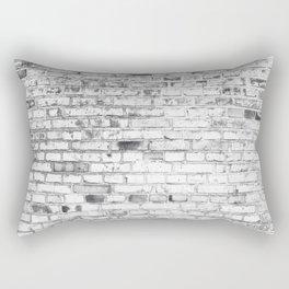 Withe brick wall Rectangular Pillow