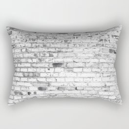 Withe brick wall Rectangular Pillow