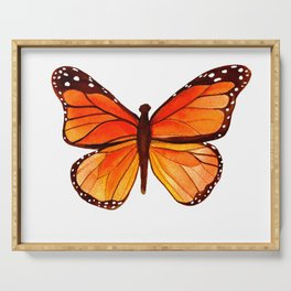 Sunset Butterfly Serving Tray