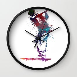 Golf player art 1 Wall Clock