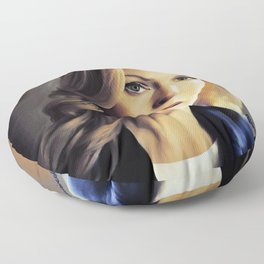 Stella Gibson oli color painting Floor Pillow
