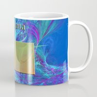 montana Mugs featuring Montana Map by Roger Wedegis