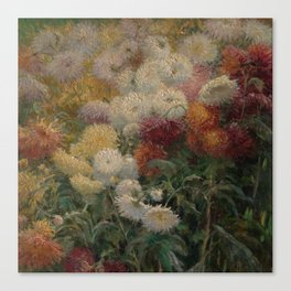 Chrysanthemums in the Garden at Petit-Gennevilliers - Claude Monet Canvas Print