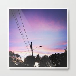 Sunset in the Knoll Metal Print
