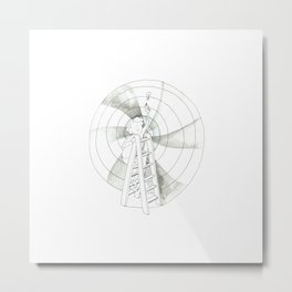 Vertigo | Ink drawing |children illustrations by asillustrations Metal Print