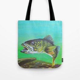 That's what all the pickerel say Tote Bag