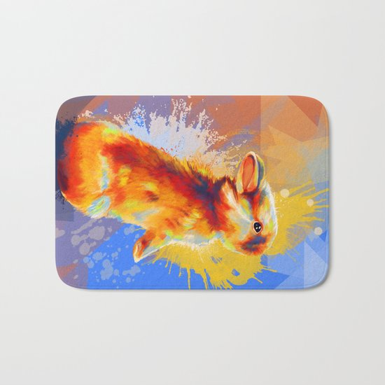 Colors of Fluff - Bunny portrait Bath Mat