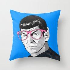 Pop Art Spock  Throw Pillow