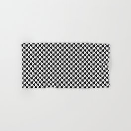 Black and White Check Interlockng Weimaraner Hand & Bath Towel