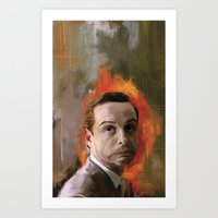 moriarty Art Prints featuring Moriarty by Wisesnail