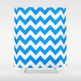 Blue Bold Chevron Shower Curtain
