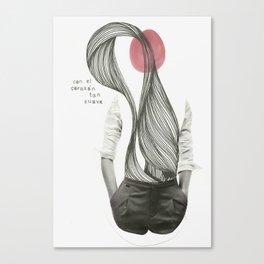 con el corazón tan suave como yo Canvas Print