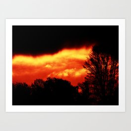 Fire in the Sky Art Print
