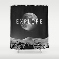 explore Shower Curtains featuring EXPLORE by openact