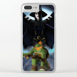 Michelangelo And Shinigami Clear iPhone Case